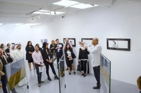 Antonio Da Silva presenting the artworks of two other Brazilians, the brilliant Katia Salvany's unique gumprints and Rommulo Vieira Conceicao's landscape photo installation