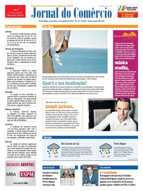 Front Page of Jornal do Comercio