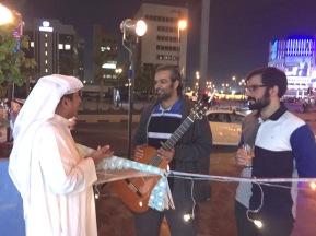 My father, Fahad Alnashmi, expressing his appreciation to the Kuwaiti Latin quartet, Alhassan Brothers