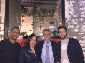 Myself, Claudia, Mexican Embassy Deputy Head of Mission Eduardo Nino and Abdul Latif Alsumait